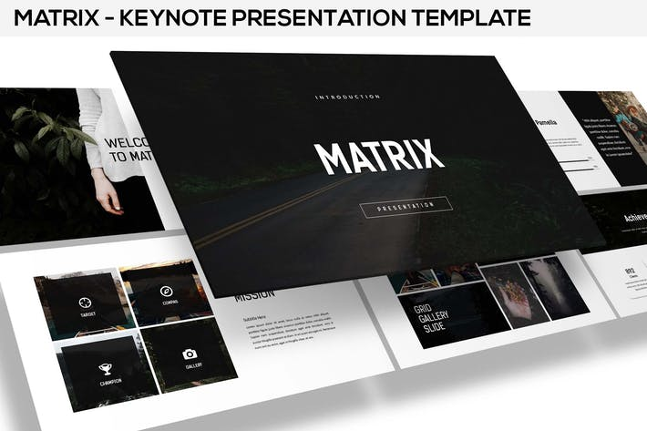 Thumbnail for Matrix - minimal Keynote presentation
