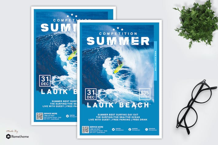 Thumbnail for Lauik - Surfing and Summer Event Flyer HR