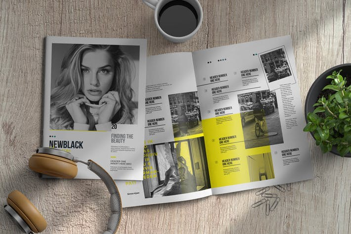 Thumbnail for Newblack | Magazine Template