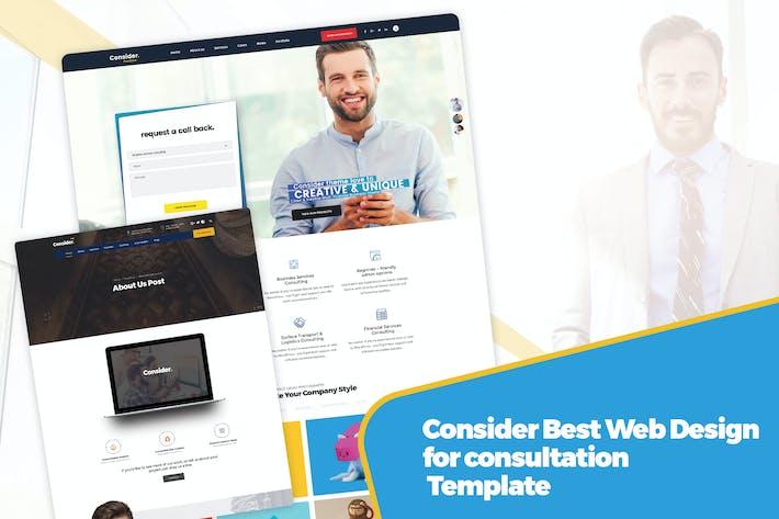 Consider Best Web Design for consultation Template