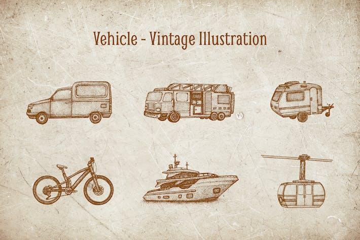 Thumbnail for Vintage Illustration - Vehicle V.3