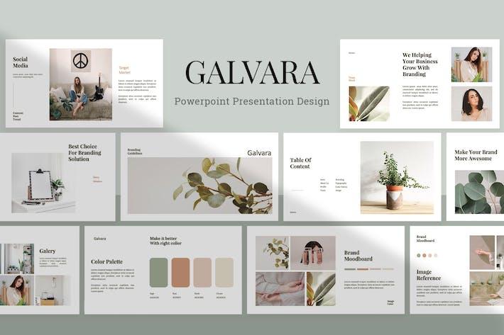 Thumbnail for Галвара - Шаблон Powerpoint