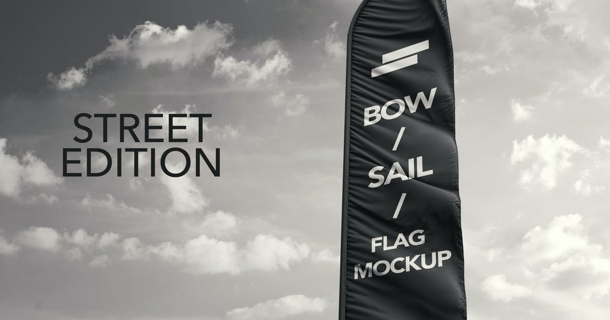 Download 3D Flags Feather / Bow / Sail Flag Mockup by sreda