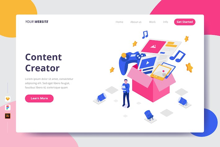 Thumbnail for Content Creator - Landing Page