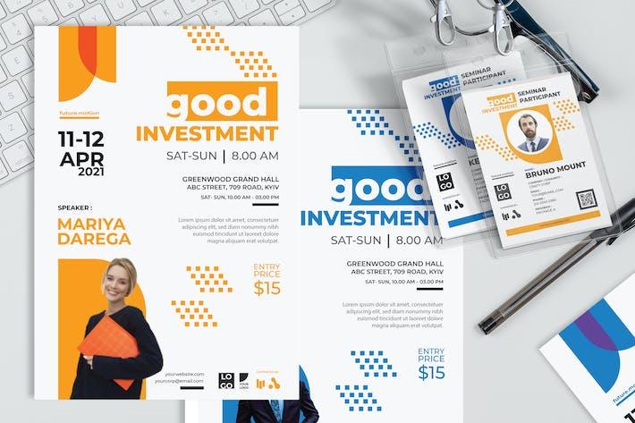 Thumbnail for Gute Investition - Poster und Seminareinladung