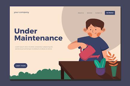 Maintenance Service - Landing Page