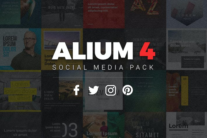 Thumbnail for ALIUM 4 - Social Media Pack