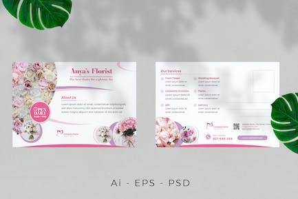 Florist Postcard Design