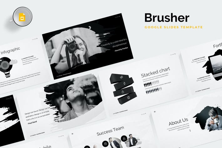 Thumbnail for Brusher Google Slides Template