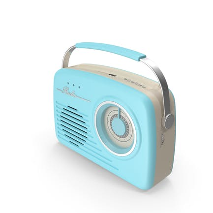 Blue Rotary Radio