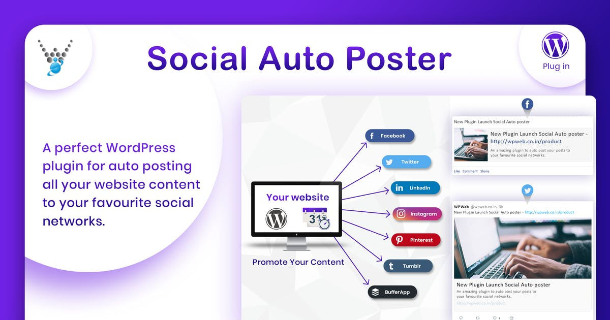 Download Social Auto Poster - WordPress Plugin by wpweb