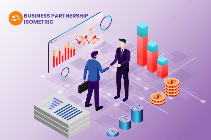 Thumbnail for Isometric Business Partnership Vector Illustration