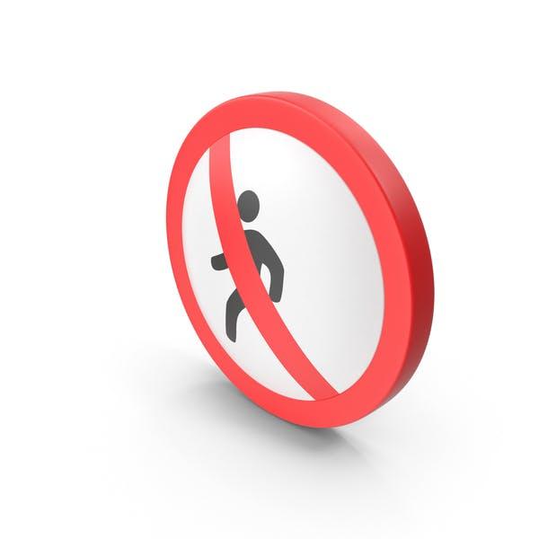 No Pedestrian Road Sign