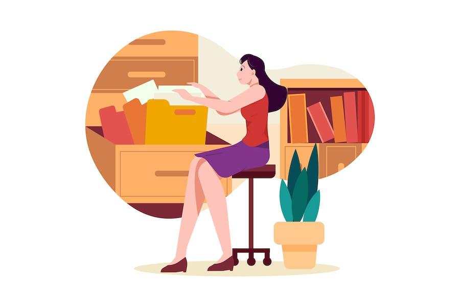 La Dama Administradora que busca un documento