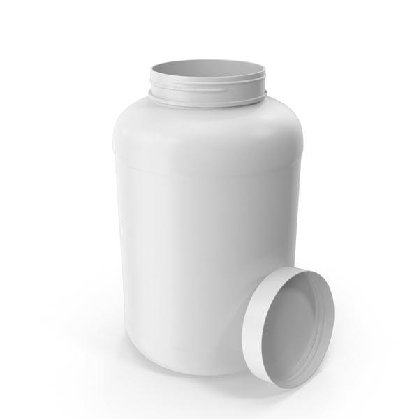 Botella de plástico de boca ancha 2,4 galones blanco abierto