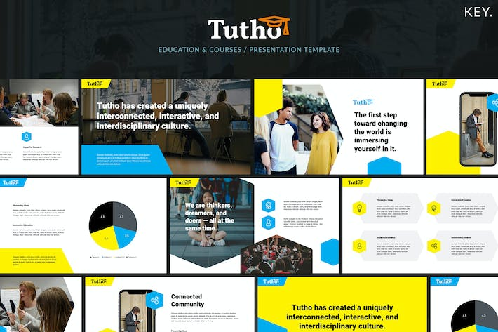 Thumbnail for Tutho - Education & Courses Keynote Template