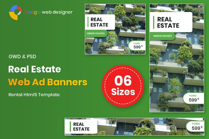 Thumbnail for Real Estate Banners Google Web Designer