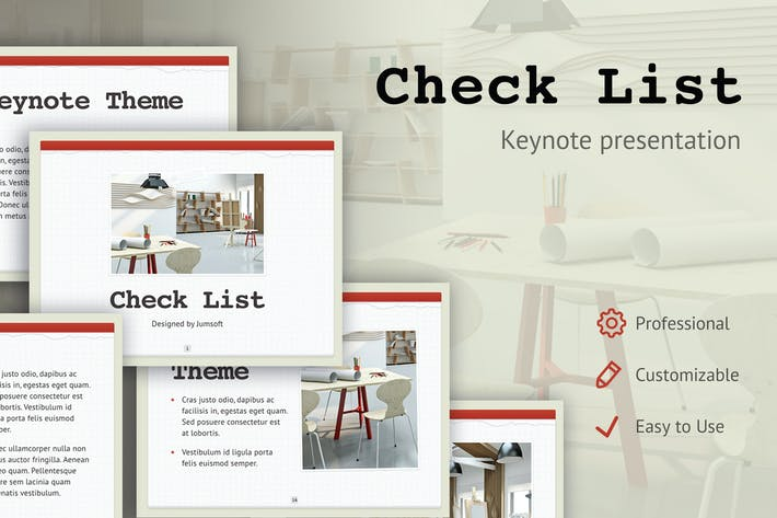 Thumbnail for Check List Keynote Template