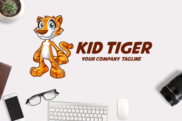 Thumbnail for Kid Tiger Mascot Logo