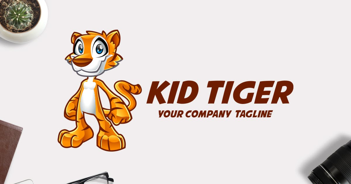 Download Kid Tiger Mascot Logo by Suhandi