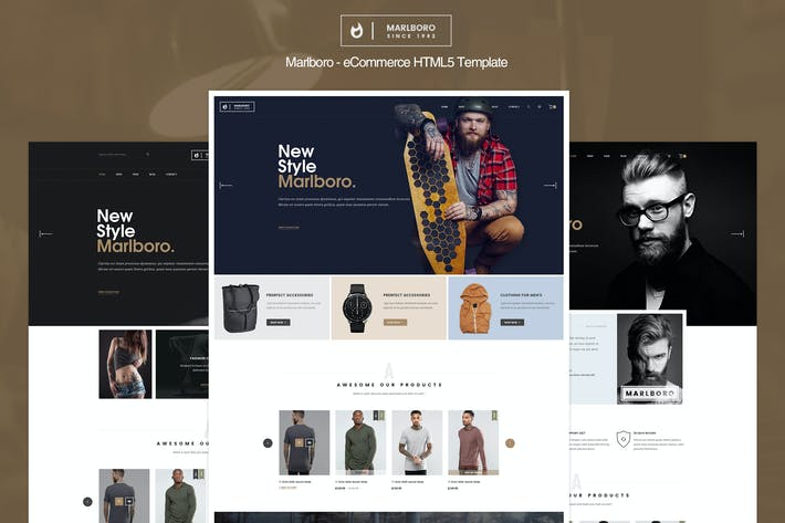 Thumbnail for Marlboro - eCommerce HTML5 Template