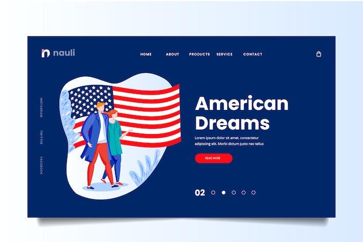 Thumbnail for American Dreams Web Header PSD und AI Vektor