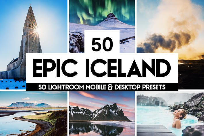 Thumbnail for Epic Iceland - 50 Lightroom Presets and LUTs