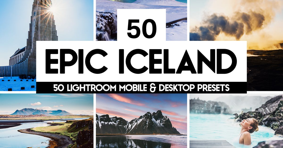 Download Epic Iceland - 50 Lightroom Presets and LUTs by sparklestock