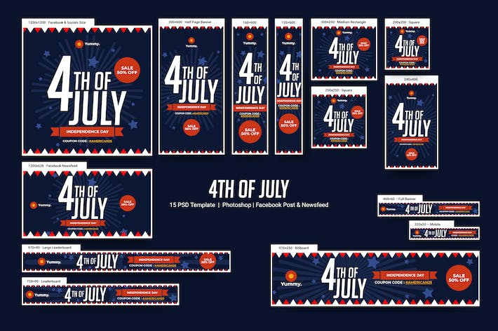 Thumbnail for 4th Of July Banners Ad