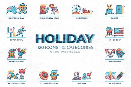 Holiday & Independence Day Icons