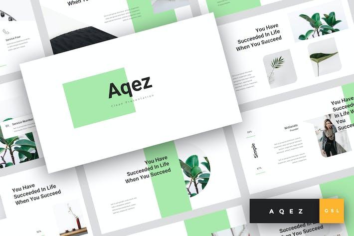 Thumbnail for Aqez - Clean Google Slides Template