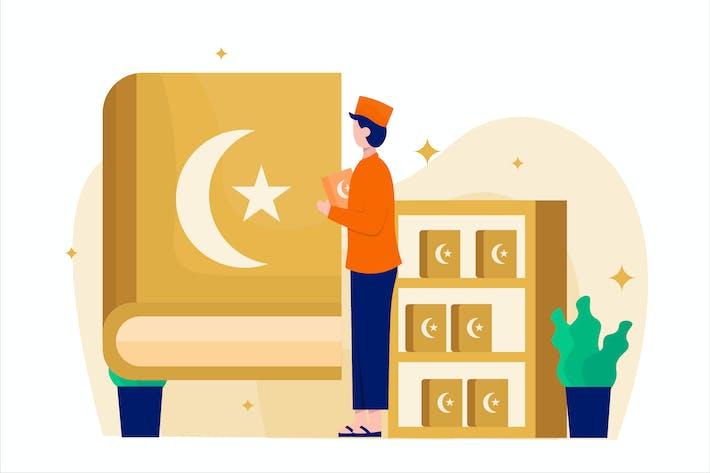 Thumbnail for Ramadan Qiraat Flat Vector Illustration