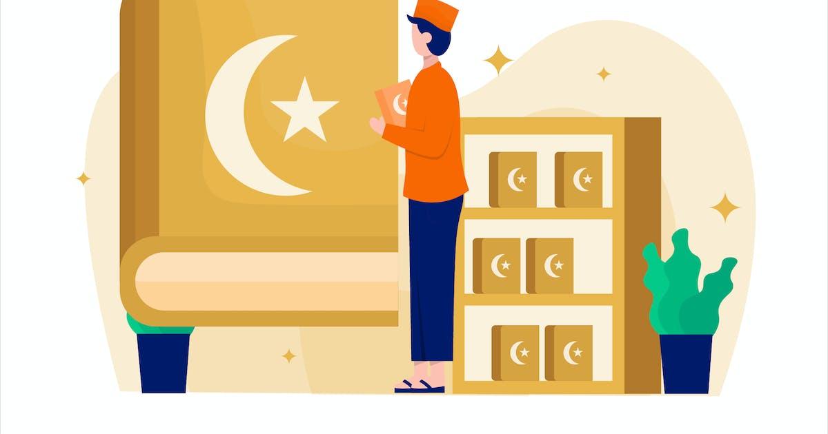 Download Ramadan Qiraat Flat Vector Illustration by StringLabs