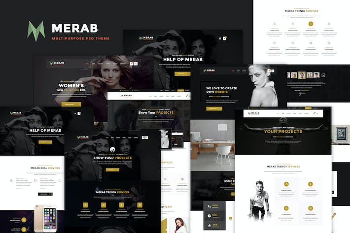 Thumbnail for Merab - Creative Multipurpose PSD Template