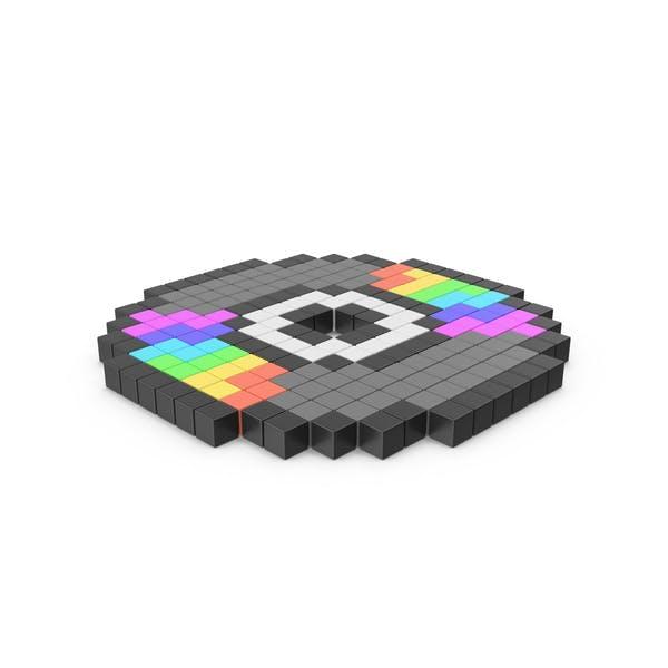 Icono de disco compacto pixelado