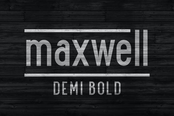 Thumbnail for Maxwell Sans Demi Bold