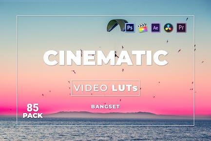 Набор Кинематографическая наборов 85 Видео LUTs