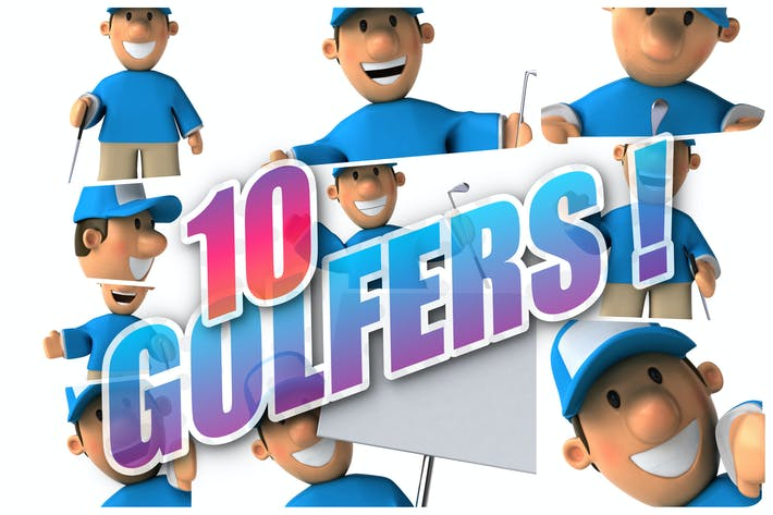 Thumbnail for 10 fun Golfers !