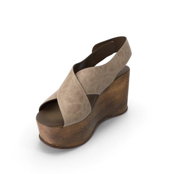 Womens Shoes Wood Beige