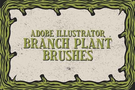 Branch Plant Brushes Illustrator