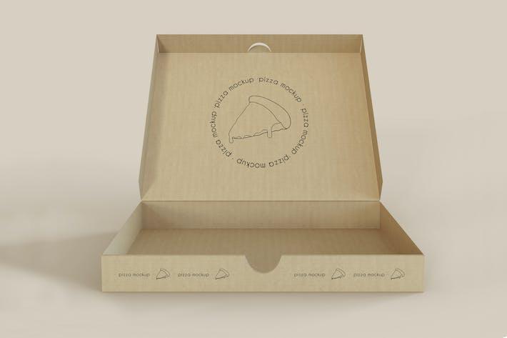 Thumbnail for Open Pizza Box Mockup