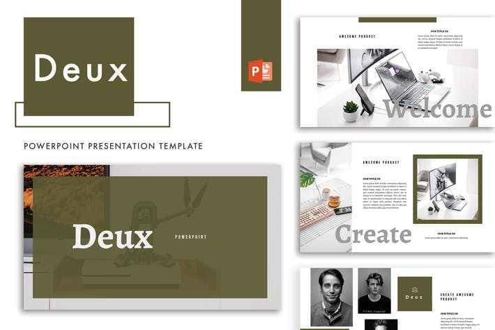 Thumbnail for Deux Powerpoint Template