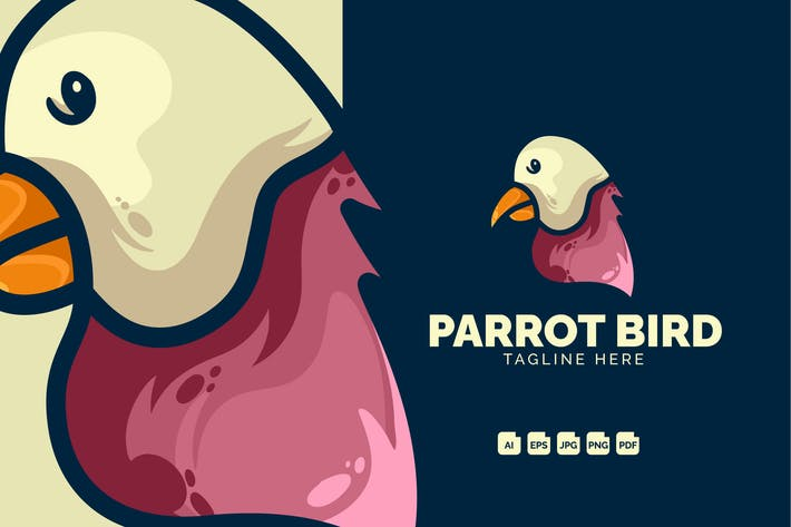 Thumbnail for Parrot Bird Modern Logo Design