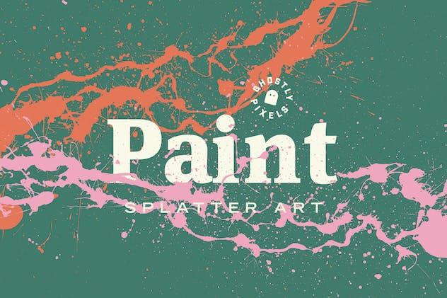 Paint Splatter Art