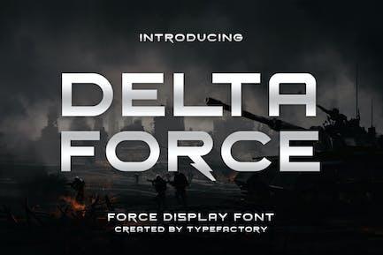 Delta Force - Force Display Font