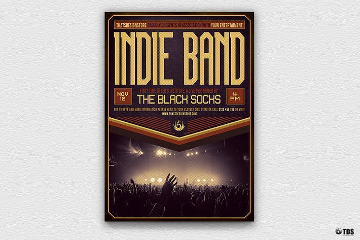 Indie Band Flyer Template V4 By Lou606 On Envato Elements
