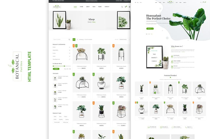 Cover Image For Botanical - HTML5 Ecommerce Template