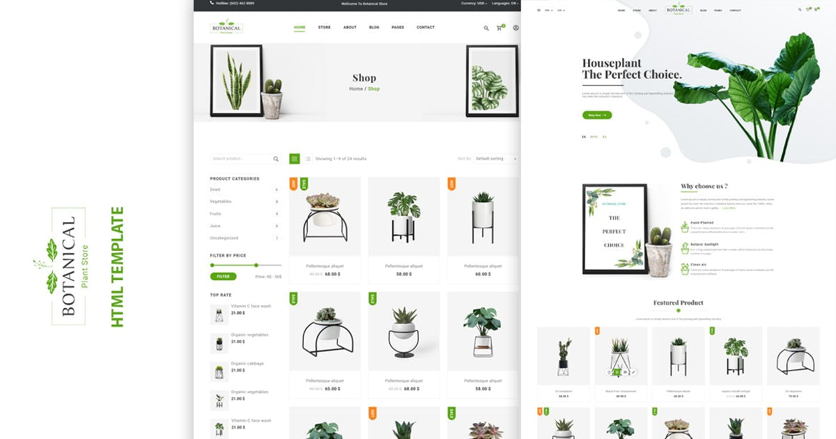 Download Botanical - HTML5 Ecommerce Template by htmlbeans