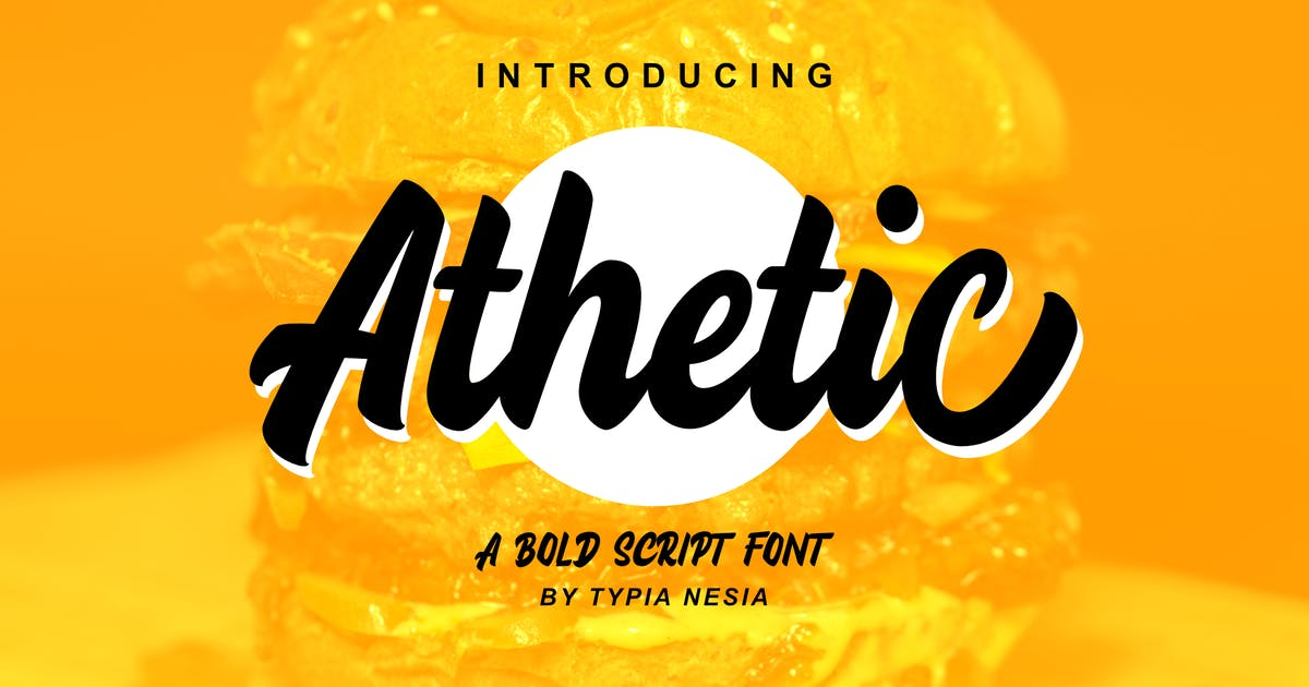 Download Athetic Bold Script by yipianesia