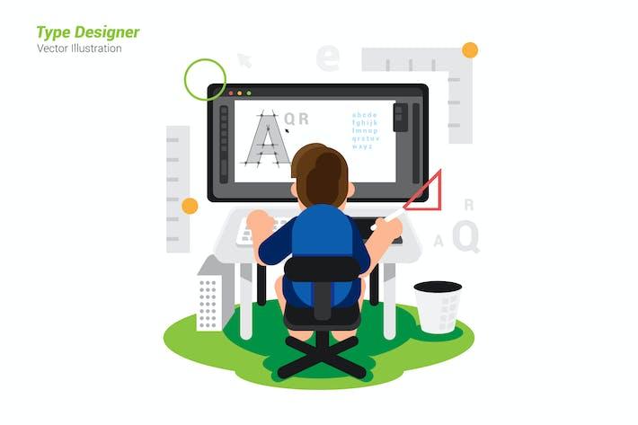 Thumbnail for Type Designer - Vector Illustration